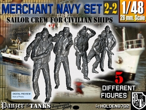 1-48 Merchant Navy Crew Set 2-2 in Smooth Fine Detail Plastic