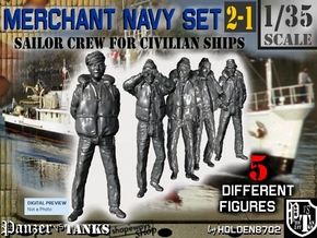 1-35 Merchant Navy Crew Set 2-1 in Smooth Fine Detail Plastic