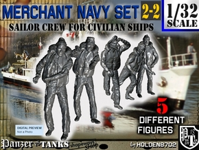 1-32 Merchant Navy Crew Set 2-2 in Smooth Fine Detail Plastic