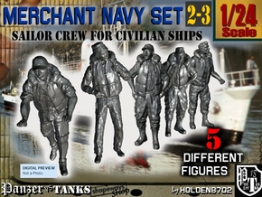 1-24 Merchant Navy Crew Set 2-3 in White Strong & Flexible