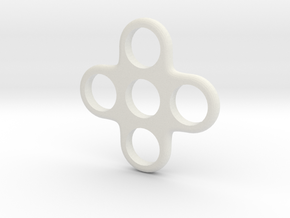 Quad EDC Fidget Spinner in White Natural Versatile Plastic