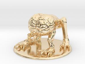 Intellect Devourer Miniature in 14K Yellow Gold: 1:60.96
