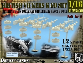 1-16 Vickers K GO Raf Whaleback SET in Smooth Fine Detail Plastic