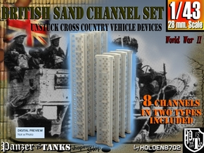 1-43 British Sand Channel Set in Smooth Fine Detail Plastic