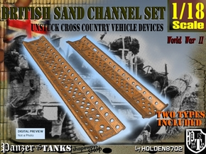 1-18 British Sand Channel Set in White Natural Versatile Plastic
