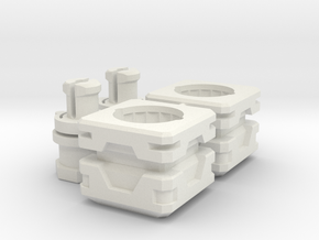 CW To Energon Limb Combiner Port Adapter Mk.II in White Natural Versatile Plastic