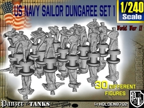1-240 US Navy Dungaree Set 1 in Smoothest Fine Detail Plastic