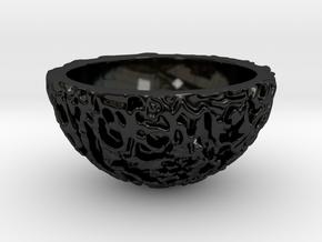 Galaxy Porcelain Bonsai Pot (12 cm) in Gloss Black Porcelain