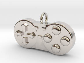 Controller Charm in Rhodium Plated Brass