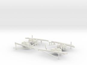 05-07-LRV - Steering Assembly & Motors in White Natural Versatile Plastic