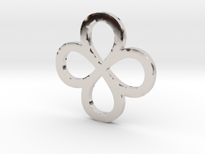 Dual Infinity Flower Coin in Platinum