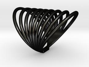 MAGNETIC FIELD RING Size 7 in Matte Black Steel