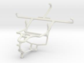 Controller mount for PS4 & Motorola Moto E3 in White Natural Versatile Plastic