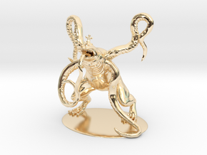 Froghemoth Miniature in 14K Yellow Gold: 1:60.96