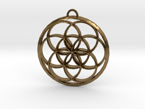Seed Of Life in Natural Bronze: Large