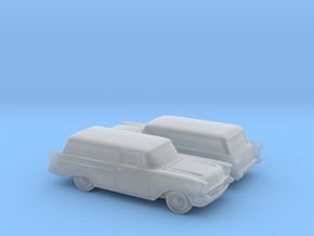 1/160 2X 1957 Chevrolet One Fifty Delivery in Smooth Fine Detail Plastic