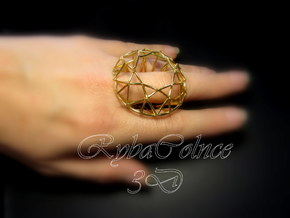 Ring The Diamond/ size 10HK 5US ( 16.1 mm) in Polished Bronze