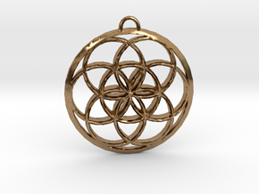 Seed Of Life in Natural Brass: Small