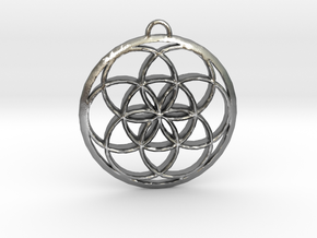 Seed Of Life in Natural Silver: Small