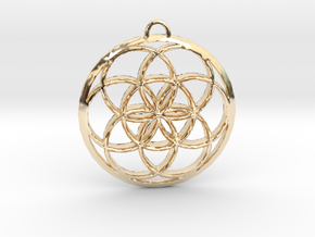 Seed Of Life in 14K Yellow Gold: Small