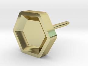 hexagon studs in 18k Gold