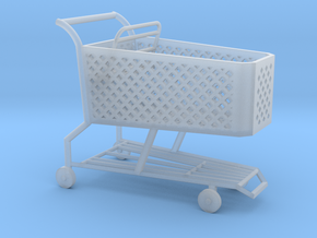 1:48 Shopping Cart in Smooth Fine Detail Plastic
