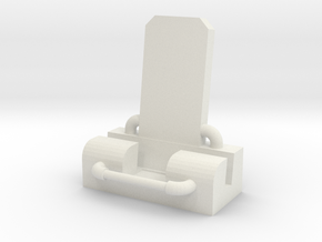 iPhone 7 Pipe Throne Stand in White Natural Versatile Plastic