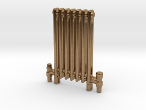 Radiator Floor Mounted Scale model in Natural Brass