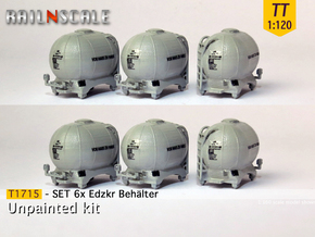 SET 6x Edzkr 571 Behälter (TT 1:120) in Smooth Fine Detail Plastic