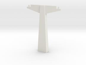 Pylon WDW Dual 100mm (HO scale) in White Natural Versatile Plastic