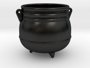 Cauldron Bowl in Matte Black Porcelain