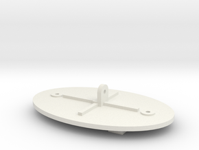 Maxbotix XL-MaxSonar-EZ Sensor Back Plate in White Natural Versatile Plastic