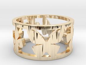 4SEASONS SUMMER in 14k Gold Plated Brass: Medium