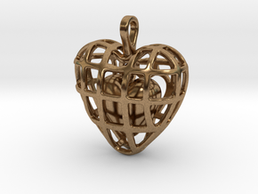Touch Of The Heart Pendant in Interlocking Raw Brass