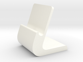 iPhone Stand in White Processed Versatile Plastic