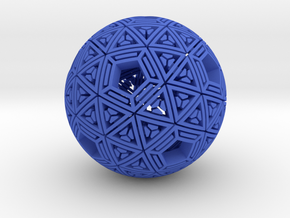 Soft-Boiled Geodesic (6cm) in Blue Strong & Flexible Polished