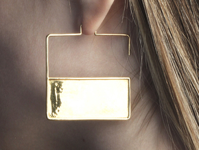 FLAT Nº 3 EARRINGS in 14k Gold Plated