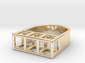 STRUCTURE Nº 3 RING in 14k Gold Plated Brass: 7 / 54