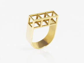 STRUCTURE Nº 5 RING in 14k Gold Plated: 7.5 / 55.5
