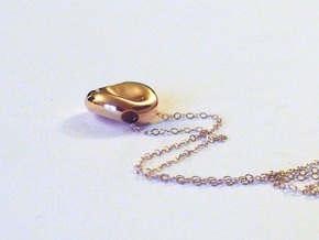 Red Blood Cell Pendant in 14k Rose Gold Plated Brass