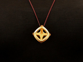 Trios Pendant (#2422) in Polished Gold Steel