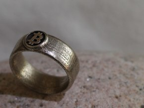 Bitcoin Ring (BTC) - Size 11.0 (U.S. 20.57mm dia) in Stainless Steel