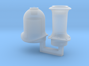 HO Ixion NSWR C32 Funnel and Steam Dome in Smooth Fine Detail Plastic