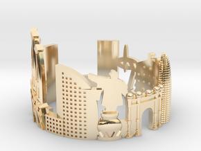 Barcelona Skyline - Cityscape Ring in 14K Yellow Gold: 10.25 / 62.125