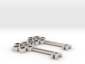 Keys to Kindness Key Earrings in Platinum