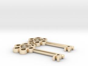 Keys to Kindness Key Earrings in 14k Gold Plated Brass