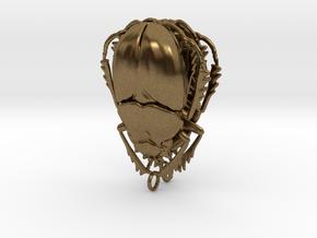 Scarab Beetle Earrings in Natural Bronze