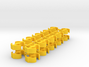 Game Piece, Core Union Station, 20-set in Yellow Processed Versatile Plastic