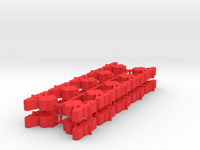 Game Piece, Warrior Empire Station, 20-set in Red Processed Versatile Plastic