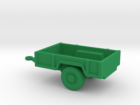 1/144 Scale M-101 Trailer in Green Strong & Flexible Polished